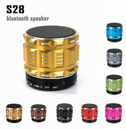 Building speaker Boxes online shopping - Portable Wireless Bluetooth Speaker S28 with Built in Mic TF Card Handsfree Mini Speaker with Retail Box