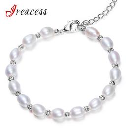 $enCountryForm.capitalKeyWord Australia - New Fashion Women's Natural Freshwater Pearl Bracelet 100% Genuine Pearl Silver Rose Gold Bracelets & Bangles Jewelry For Women