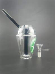 $enCountryForm.capitalKeyWord NZ - 3 Color Starbucks Cup Glass Bongs 10mm Mini Water Pipes Dab Rigs and Oil Rigs Glass Bongs Hookah Smoking Accessories