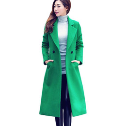 69debd00d942 2018 Fashion Korean Button Long Solid Slim Mujer Womens Fashion Autumn Winter  Long Woolen Coat Overcoat Parka Outwear Cardigan Y18102502