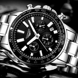 0ad5ea0948ac relogio masculino GUANQIN Mens Relojes de primeras marcas de lujo de  negocios de acero inoxidable reloj de cuarzo de los hombres deportivos reloj  de pulsera ...