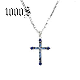 9e5355b4f10bd Fine Genuine 100% 925 Sterling Silver Necklace Women Jewelry Fashion Newest  Cubic Zirconia Cross Necklaces Pendants