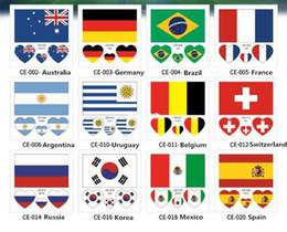 2018 Etiqueta engomada temporal del tatuaje Bandera nacional Tatto Copa del mundo cara tatuaje Juego de fútbol Componer Body Tatoo
