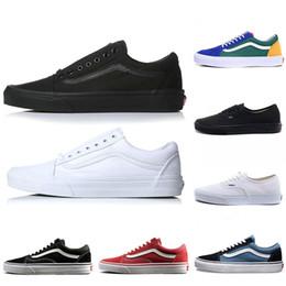 ec5e18ce26 Vans Cheap Original Old Skool Classic men women Canvas Casual shoes Triple Black  white red Classic Fashion Brand skate sports shoes 35-44