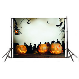 Halloween pHotograpHy backdrops online shopping - MINIFOCUS x m Photography Background Backdrop Digital Printing Hallowmas Halloween Night Pumpkin Graveyard Pattern for Photo Studio