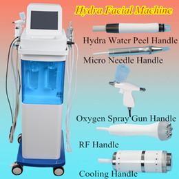 Wholesale 5 in hydra facial machine Hydra Dermabrasion Bio lifting Spa Facial Machine Hydro Microdermabrasion Facial Machine RF skin rejuvenaiton