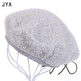 Wholesale High Quality Wool Felt Beret Solid Color Knitted British Style Beret for Women Girls Winter Hats Female Elegant