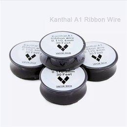 nichrome wire 24 gauge 2019 - Top quality VAPOR TECH K A1 Resistance Wire Nichrome 30 Feet 22 24 32 awg Gauge vape mods RDA ecigarette atomizer RBA Va