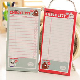 Sticky write note online shopping - Korean Kawaii Cute Rabbit Panda Sticky Check List Post It School Stationery Sticker Message Notes Daily Planner Writing Memo Pad