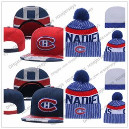 Hockey sobre hielo de Montreal Canadiens gorros bordados sombrero ajustable  Gorras Snapback bordados blanco rojo azul 6544c1efabf