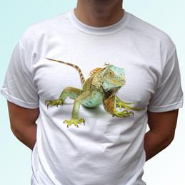 $enCountryForm.capitalKeyWord Australia - Green Iguana white t shirt animal tee lizard top - women mens kids baby sizes women men Great Quality Cotton free shipping
