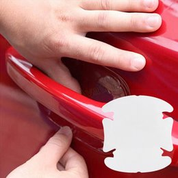 Windshield protection film online shopping - 4Pcs Car Handle Protection Film Car Exterior Transparent Sticker Automotive Accessories EA10430