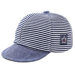 82cf61c7e10 Summer Cotton Baby Hats Cute Casual Striped Soft Eaves Baseball Cap Baby  Boy Beret Baby Girls Sun Hat New