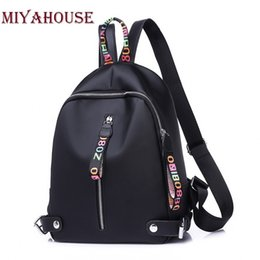 women colorful backpack Canada - Miyahouse Female Nylon Oxford Colorful Letters Backpacks Women Casual Waterproof Travel Bags Teenagers Girls Shoulder Schoolbags