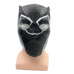 Adult Captain America Mask UK - Free Shipping 2018 Hot Sale Latex Panther mask new movie hero captain America 3 mask with high quality for wholesale halloween cosplay props