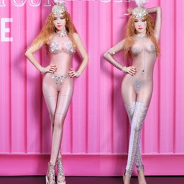 $enCountryForm.capitalKeyWord Australia - Jazz Costumes Nightclub Rhinestone Bodysuit DJ DS Gogo Jumpsuit Sexy Pole Dance Performance Clothing Women Stage Outfit DNV10494