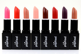 magic lip lipstick UK - Free Shipping 8 Colors Popfeel Moisturizer Lipsticks Magic Natural Waterproof Lip Stick Long-lasting Matte Velvet Lipstick DHL freeshipping
