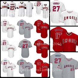 82057f47d 27 Mike Trout 17 Shohei Ohtani Los Angeles Jersey Mens Adult Baseball  Jerseys Embroidery Logos 100% Stitched