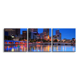 Art Canvas Prints Australia - 3 pieces high-definition print night view canvas prints painting poster and wall art living room picture CSYJ3-007