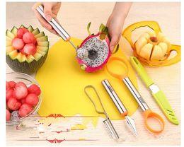 $enCountryForm.capitalKeyWord Australia - 7Pcs Set DIY Dig Tool Fruit Carving Knife Melon Scoop Spoons Ice Cream Watermelon Cutter Fruit Carving Tool Apple slicer