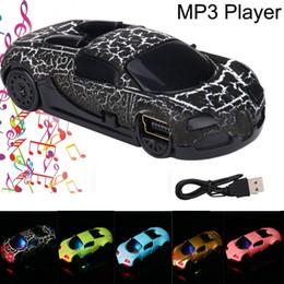 $enCountryForm.capitalKeyWord NZ - Portable Super Cute Car USB Mini Plastic Illuminate MP3 Player Build In Speaker Support 32GB Micro SD TF Card Droship 10jul 19