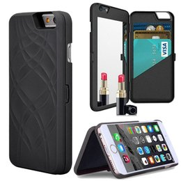 Discount secret iphone - Luxury Secret Mirror Wallet Phone Case For Ipnone X Slim Leather Hard Back Card Slot Cover For 6 plus 7 8 7 plus