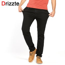 96a5bb7c79c Drizzte Men  S Jeans Black High Stretch Denim Brand Men Jeans Luxury Jeans  Size 30 32 34 35 36 38 40 42 Pants Trousers