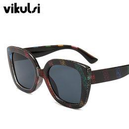 e5968f0d4853 Fashion Cat Eye Sunglasses Women Rainbow Brand Designer Vintage Square Sun  glasses Female Shades Big Frame Style Eyewear UV400
