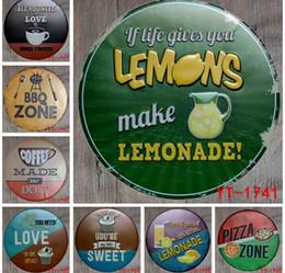 RetRo home baRs online shopping - 30cm Round Vintage Retro Metal Sign Poster Plaque canteen Bar Pub caffee Club Wall Home Decor art metal Painting Wall Decor FFA601
