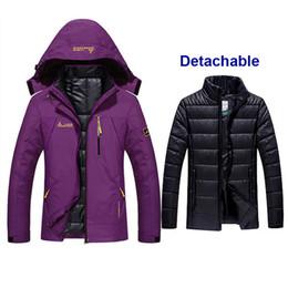 cab0b42950a1d Women Winter Waterproof Fishing Thermal Warm Plus Size Trekking Hiking  Camping Skiing Climbing 3 in 1 Outdoor Jackets Waterproof