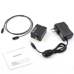 Analog Ses Dönüştürücü RCA Analog Ses Dönüştürücü Dijital Adaptör Optik Koaksiyel RCA Toslink Sinyal Dijital