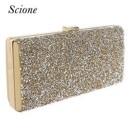 b7b35c479 Embreagem de ouro Mulheres sacos de Noite Strass Diamante Embreagens de  Cristal Carteira de Festa de Casamento Bolsa Chian Bolsas de Ombro Banquete  Li250