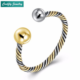 $enCountryForm.capitalKeyWord NZ - COOLFLY European Vintage Antique 925 Sterling Sier Brass Copper Sier Ball Fashion Jewelry Gift Resizable Rings For Women Men