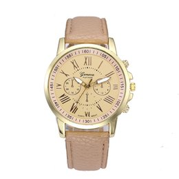 Women Watch Fashion Casual  Business Quartz Gold Leather Band Two-tone Wrist Watch Bracelet Ladies Gift Dress 4A