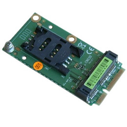Wholesale Free shipping Mini PCIe Extension SIM Card Socket for 3G Modem and Mini-PCI e interface Extender