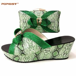 $enCountryForm.capitalKeyWord NZ - Green Color Italian Shoes and Bag Set for Party In Women Matching Women Shoes and Bags for Wedding African Shoes and Bag Set