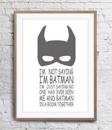 $enCountryForm.capitalKeyWord Australia - I Am Batman Art Poster Wall Decor Pictures Art Print Poster Unframe 16 24 36 47 Inches