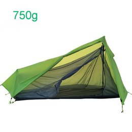 Discount pole lighting - 750g ultra-light and convenient outdoor camping tent, windproof and rainproof aluminum pole ultralight one bedroom one h