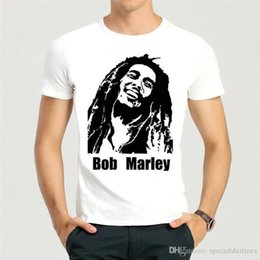 Discount black short bob styles - Cheap Price 100% Cotton Tee Shirts Crew Neck New Style Bob Marley Short Sleeve Tee Shirt For Men