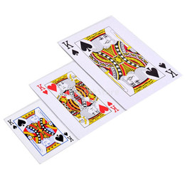 deck cards UK - Large Playing Cards Outdoor Game Family Party School Full Deck 52 3.4 X 4.8""