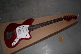 Discount electric jaguar - Hot Sale High Quality F Stratocaster Custom Shop Red Jaguar 6 strings Electric Guitar Rosewood Fingerboard In Stock