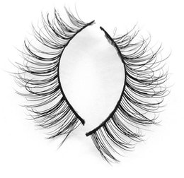 Mink Hair False Eyelashes Canada - MA16 3D mink eyelashes 100% Siberian Mink hair Luxurious 3D False Eyelashes Messy Beauty Reusable Lashes