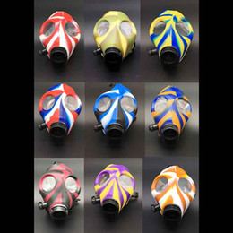 $enCountryForm.capitalKeyWord Australia - Party Hookah Gas Silicone Mask Bong Mask Tabacco Shisha Pipe 12 colors for Tobacco Smoking Pipe Tools Accessories Acrylic Glass Bongs