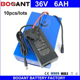 Motor Bicycles Australia - BOOANT 10pcs lots 36V 6AH For Bafang 450W Motor Electric Bicycle Battery pack 36V EU US Free Customs with 2A charger 15A BMS