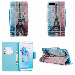 iphone 3d skull case NZ - Eiffel Tower Case For Iphone XR XS MAX X 10 8 7 6 6S SE 5S Touch 6 5 3D Skull Leather Wallet Unicorn Butterfly Flower Flip Cover Cartoon