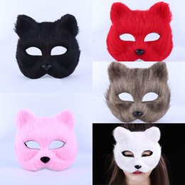 $enCountryForm.capitalKeyWord Australia - Halloween fox masquerade masks for women half face fox party mask hairy sexy fox animal mask