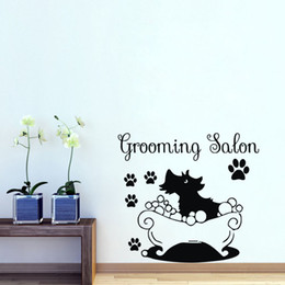$enCountryForm.capitalKeyWord Australia - Pet Shop Decorative Wall Stickers Household Products For Dogs Wall Decals Vinyl Art Decor