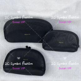 Wholesale sport sets for women resale online – Set of bags price for bags Fashion women Transparent Mesh cosetics organizer brand makeup bags luxury designer handbag counter gift