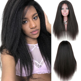 $enCountryForm.capitalKeyWord NZ - Cheap fashionable best 100% unprocessed raw virgin remy human hair long natural color yaki straight beauty full lace cap wig for women