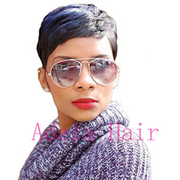 color bob wigs UK - Natural Looking short bob cut wigs Malaysian Virgin Hair Lace Front Wig Straight Full Lace Wig Hair Human Hair Wigs For Black Women